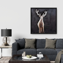 Framed 36 x 36 - Lonely deer