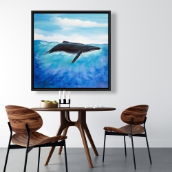 Framed 36 x 36 - Blue whale