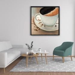 Framed 36 x 36 - Black coffee