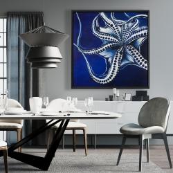 Framed 36 x 36 - Dancing octopus