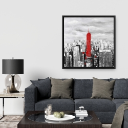 Framed 36 x 36 - Empire state building of new york