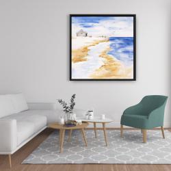 Framed 36 x 36 - House on the beach