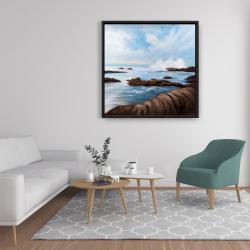 Framed 36 x 36 - Seaside storm