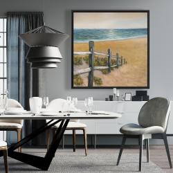 Framed 36 x 36 - Quiet seaside