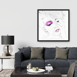 Framed 36 x 36 - Pink makeup