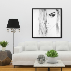 Framed 36 x 36 - Black & white portrait
