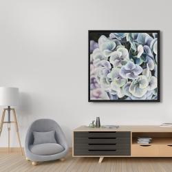 Framed 36 x 36 - Purple hydrangea flowers