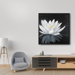 Framed 36 x 36 - Lotus flower with reflection
