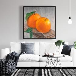 Framed 36 x 36 - Two oranges
