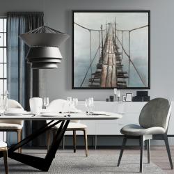 Framed 36 x 36 - Old abandoned bridge
