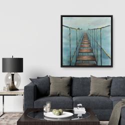 Framed 36 x 36 - Old and dangerous bridge