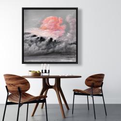 Framed 36 x 36 - Pink clouds