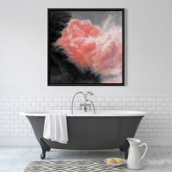 Framed 36 x 36 - Dark clouds