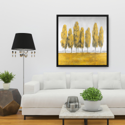 Framed 36 x 36 - Abstract yellow trees