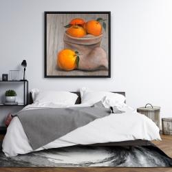 Framed 36 x 36 - Bag of oranges
