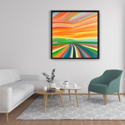 Framed 36 x 36 - Colorful road