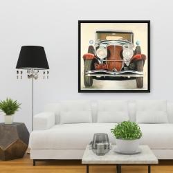 Framed 36 x 36 - Vintage luxury car