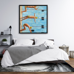 Framed 36 x 36 - Swimmers