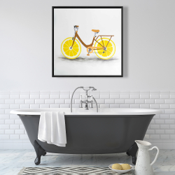 Framed 36 x 36 - Lemon wheel bike
