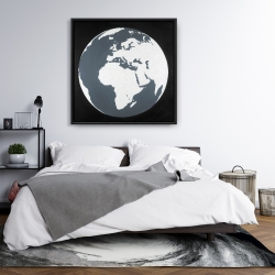 Framed 36 x 36 - Earth