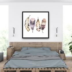 Framed 36 x 36 - Purple feather set