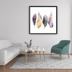 Framed 36 x 36 - Bohemian feather set