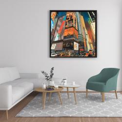 Framed 36 x 36 - Illuminated new york city street