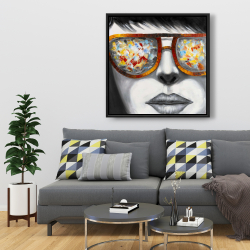 Framed 36 x 36 - Colorful sunglasses