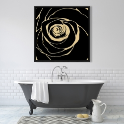 Framed 36 x 36 - Black rose