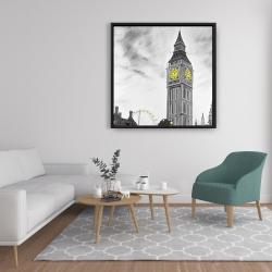 Framed 36 x 36 - Outline of big ben in london