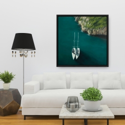 Framed 36 x 36 - Smooth sailing