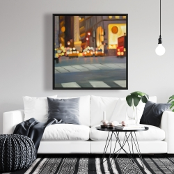 Framed 36 x 36 - Blurred view of new york