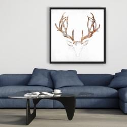 Framed 36 x 36 - Wood looking deer head