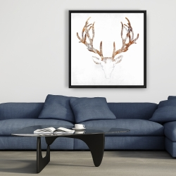 Framed 36 x 36 - Wood looking deer head