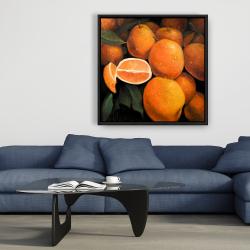 Framed 36 x 36 - Fresh oranges