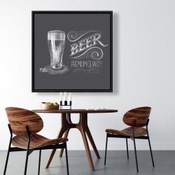 Framed 36 x 36 - Vintage beer signboard