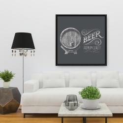Framed 36 x 36 - Old beer sign