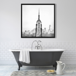 Framed 36 x 36 - Empire state building