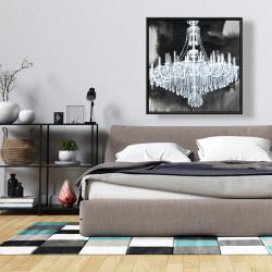 Framed 36 x 36 - Glam chandelier