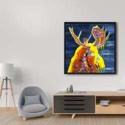 Framed 36 x 36 - Colorful moose