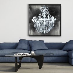 Framed 36 x 36 - Big glam chandelier