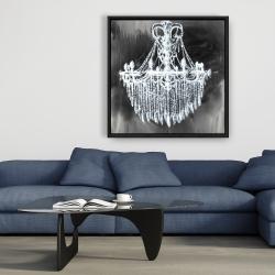 Framed 36 x 36 - Big glam chandelier