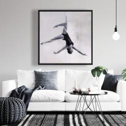 Framed 36 x 36 - Dancer on aerial silks