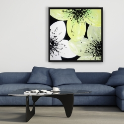 Framed 36 x 36 - White & yellow petals
