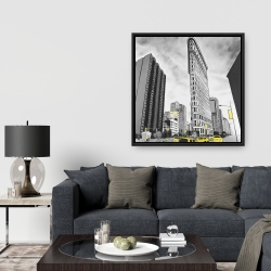 Framed 36 x 36 - Outline of flatiron building to new-york