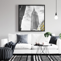 Framed 36 x 36 - Outline of empire state building