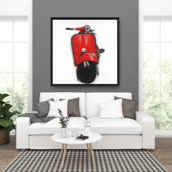 Framed 36 x 36 - Red italian scooter