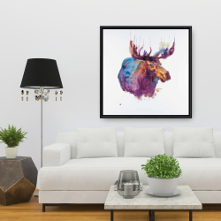 Framed 36 x 36 - Abstract moose