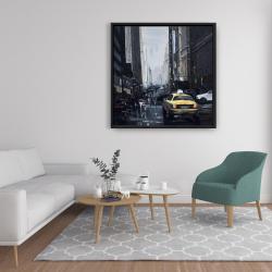 Framed 36 x 36 - New york in the dark