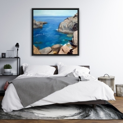 Framed 36 x 36 - California coast